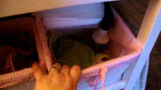 Cloth Diapering Changing Table