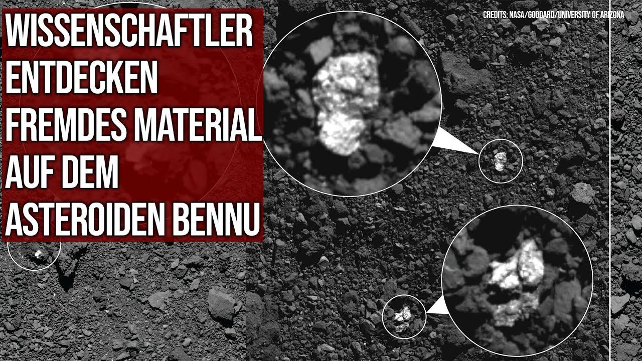 Wissenschaftler entdecken fremdes Material auf Asteroid Bennu