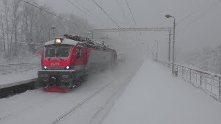Снежный день на Белорусском направлении МЖД