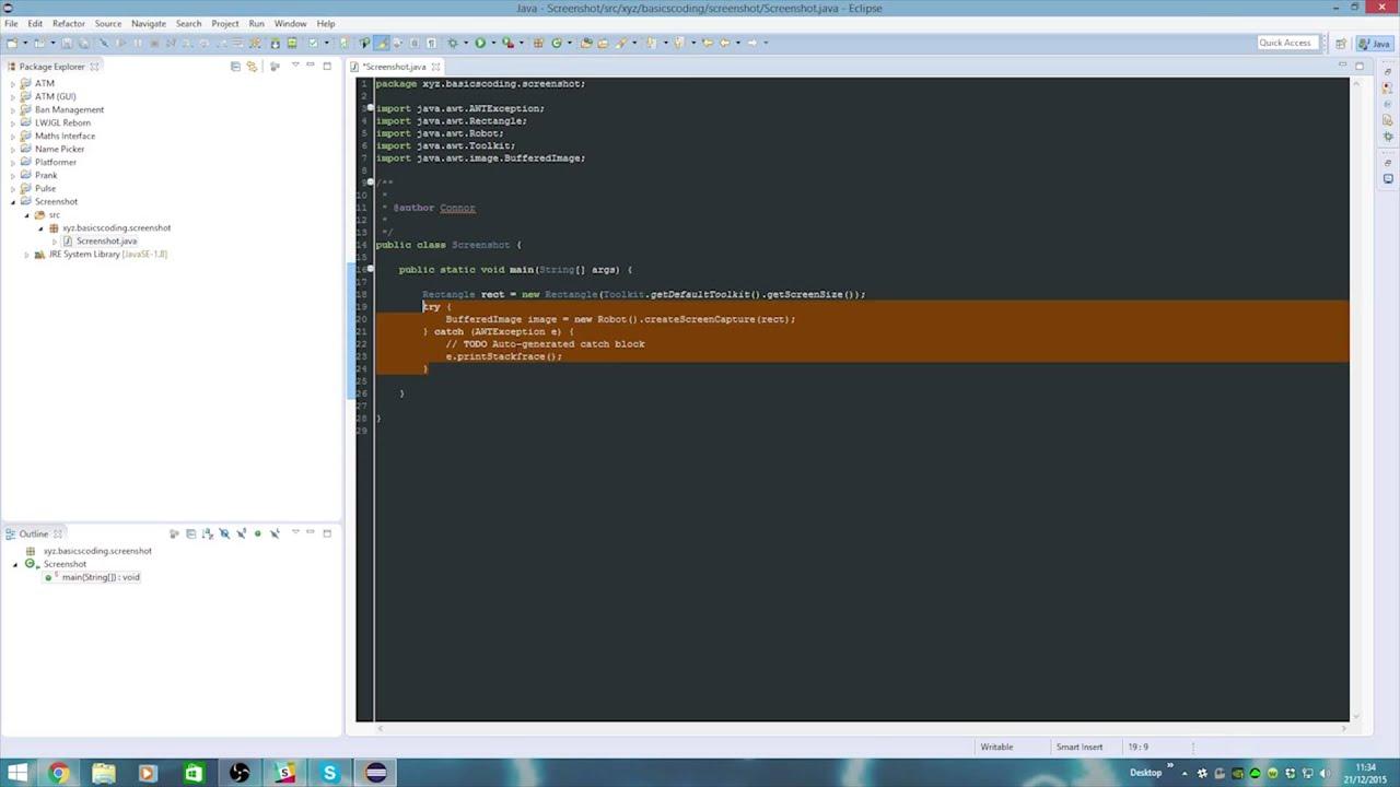 How to Java #4: Take a screenshot and save!