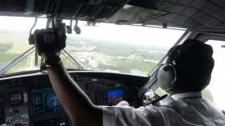 MASWings DHC-6 Viking Landing in Sandakan(Cockpit View)