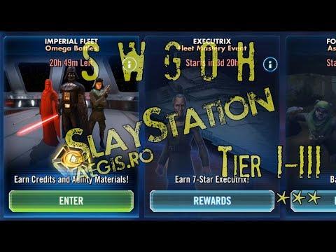 SWGOH - Imperial Fleet, Omega Battles, Tiers I-III