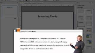 Inserting movie or video in OpenOffice Impress.flv
