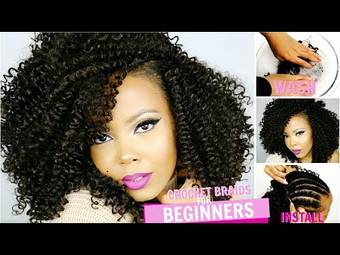 HOW TO: CROCHET BRAIDS FOR BEGINNERS STEP BY STEP TUTORIAL