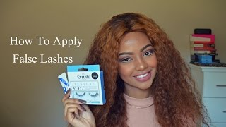 How To Apply False Eyelashes | Mihlali N