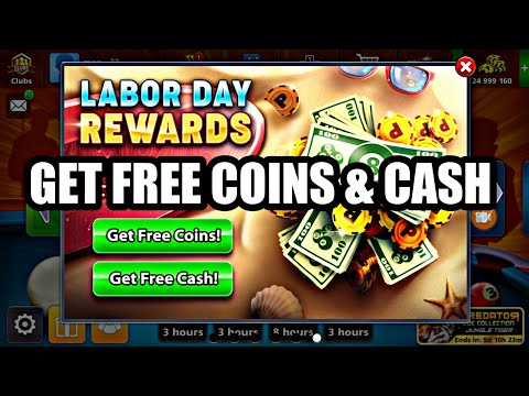 Get Free Coins And Cash Labor Day Offer |8 Ball Pool|
