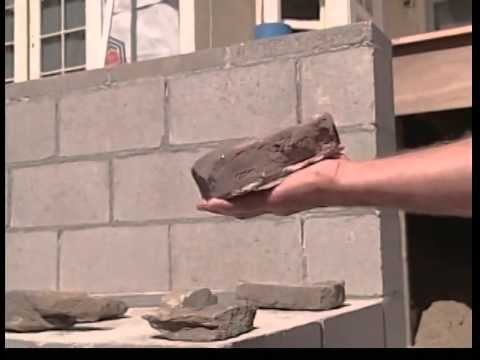 facing the retaining walls with cultured stone youtube