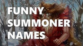 FUNNY SUMMONER NAMES