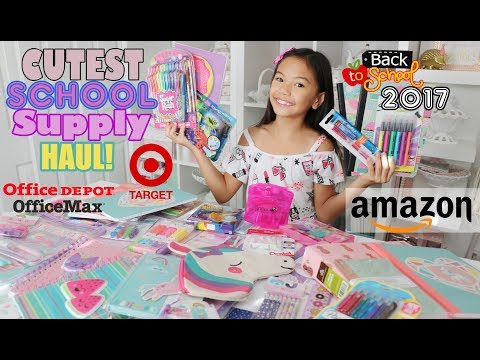 MASSIVE SCHOOL SUPPLIES HAUL 2017!!!