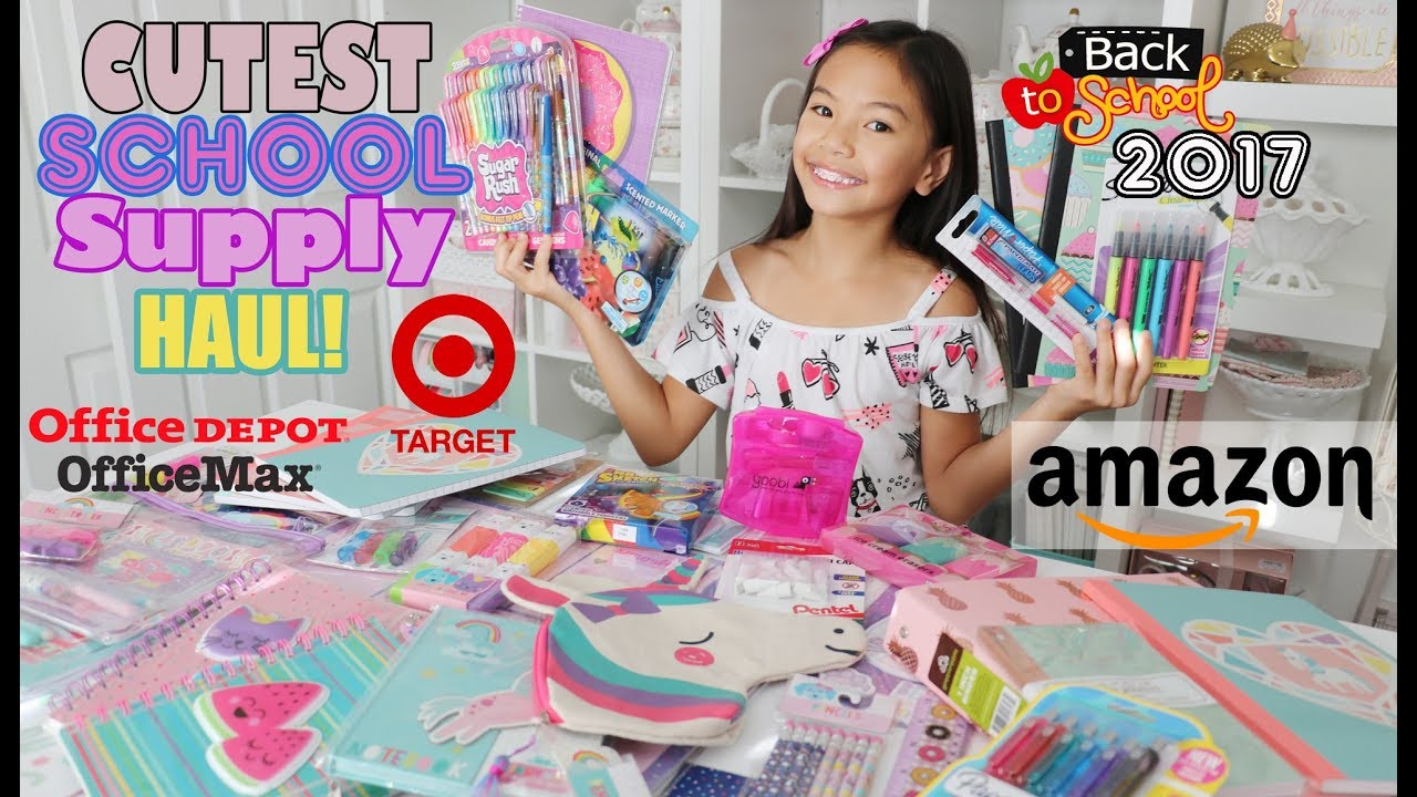 a15b6e77abc MASSIVE SCHOOL SUPPLIES HAUL 2017!!! - YouTube