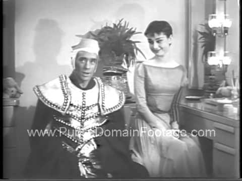 Audrey Hepburn and Mel Ferrer American Cancer Society 1954 Broadway PSA