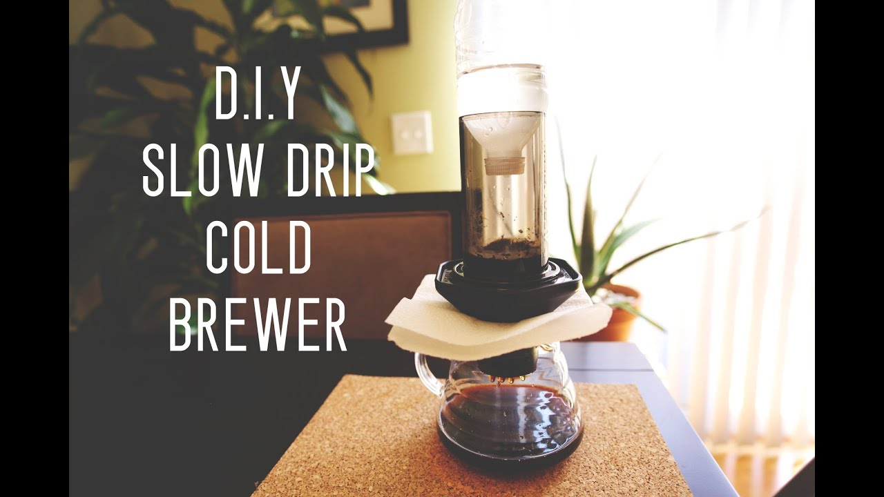 Homemade Drip Coffee Maker : D.I.Y. Slow Drip Cold Brewer by Cafe Prima - YouTube