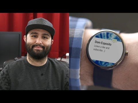 First look at how an Android Wear smartwatch works (video)