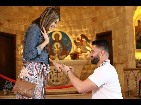 Best Proposal Story Surprise Proposal Inside St Veronica Church
