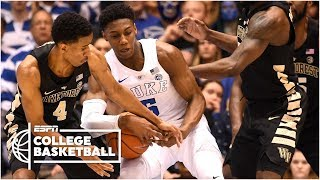 R.J. Barrett, Duke hang on for 1-point win vs. Wake Forest | College Basketball Highlights