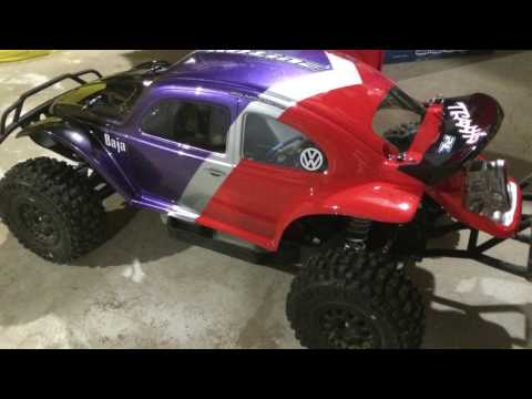 Pro-Line Baja Bug. How to paint a RC body shell.