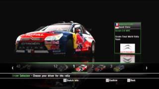 WRC 2010 Full game PC - In-game menu and settings