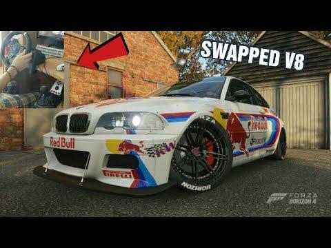 Forza Horizon 4 | SWAPPED V8 Ε46 DRIFT CAR (Steering wheel + shifter)