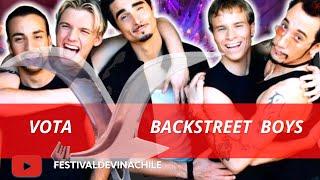 VOTA BACKSTRET BOYS: Fans votan por el artista más popular de la historia del #FESTIVALDEVIÑA