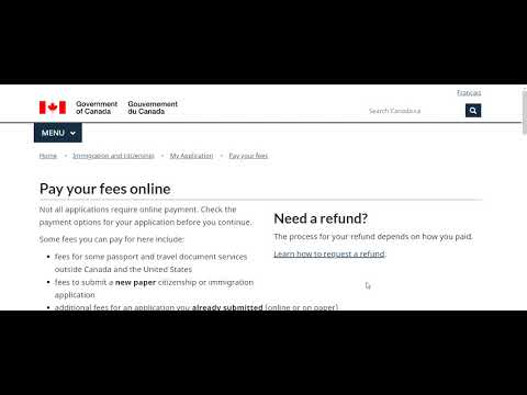 How To Pay Canada Visa Fee Online