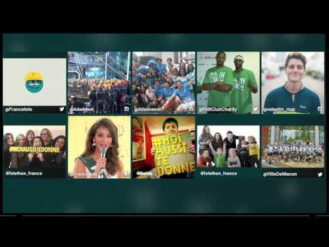 Vidéo Clip TV Téléthon / Le mur numérique du #TELETHON2015