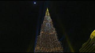Dubai New Year 2018: midnight light show at the Burj Khalifa