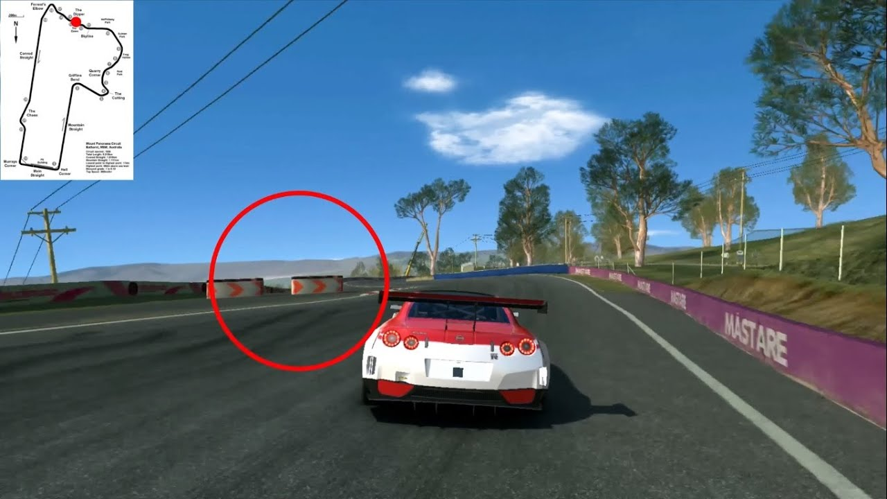 Real racing 3 track guide bathurst mount panorama nissan gtr youtube