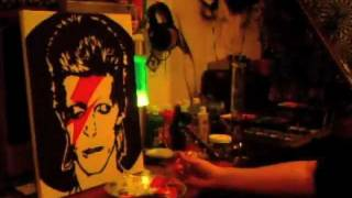 David Bowie Painting Time Lapse