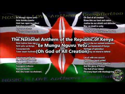 Kenya National Anthem with music, vocal and lyrics Swahili w/English  Translation