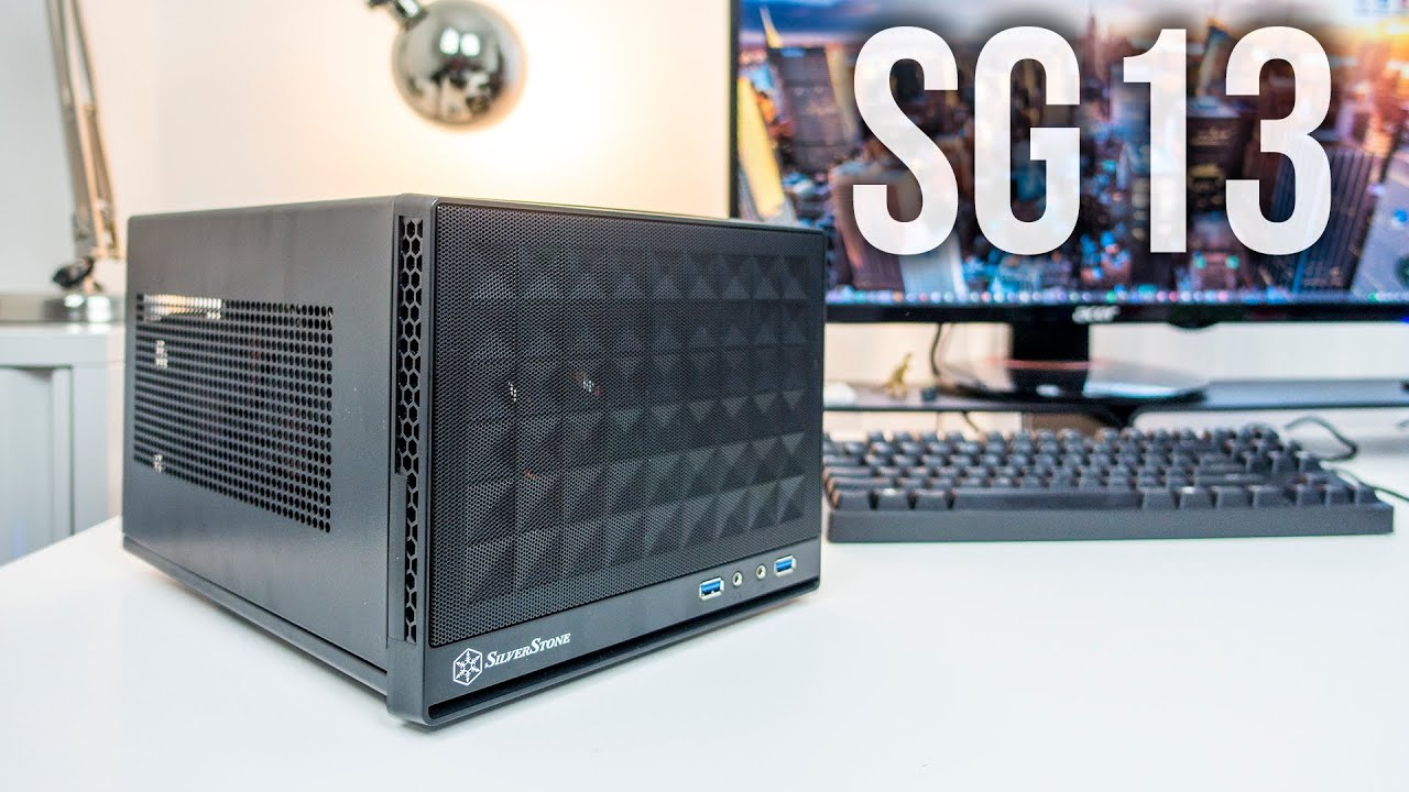 SG13B Silverstone Computer Case with Mesh Front Panel,Black