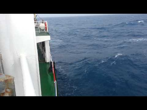Ship Sailing in Indian Ocean