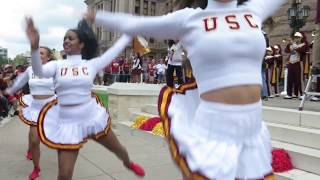 "trojancandy.com:  The USC Band Played ""Tusk"" on the Texas Capitol Steps"