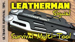 NEW Leatherman Signal SURVIVAL / Light Bushcraft Multi-Tool - SHOT Show 2015