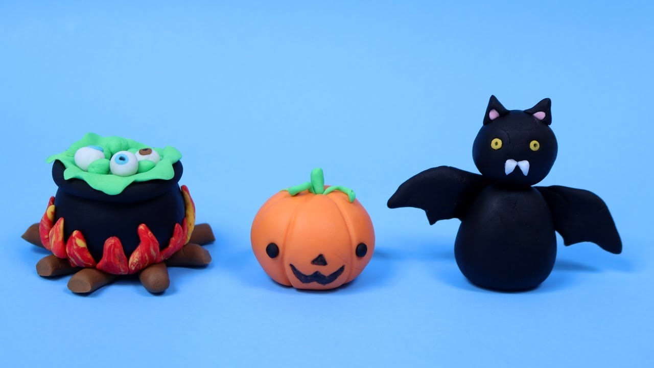 Fondant Halloween Decorations.3 Easy Halloween Fondant Cake Toppers Cake Decorating For Beginners Tutorial Youtube
