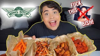 MASSIVE WING STOP MUKBANG! (eating show) + SPILLING THE TEA!
