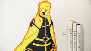 How To Draw Naruto Hokage Bijuu Mode - Step By Step (Tutorial)