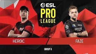 CS:GO - FaZe vs. Heroic [Dust2] Map 2 - Group B - ESL Pro League Season 9 Europe