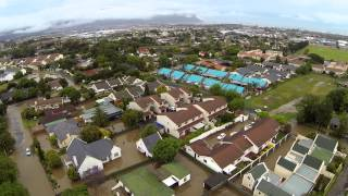 2013/11/16 6am - Somerset West Flash Flood from the Air (HD)