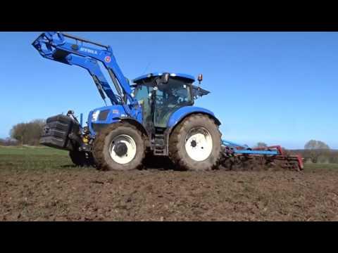 Güllefahren und Grubbern mit New Holland || Youtube Agriculture