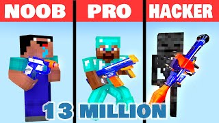 MONSTER SCHOOL : NOOB VS PRO VS HACKER BUILD BATTLE CHALLENGE NERF : MONSTER SCHOOL
