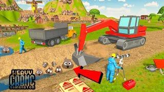 game simulator kontruksi bangunan - penggali derek