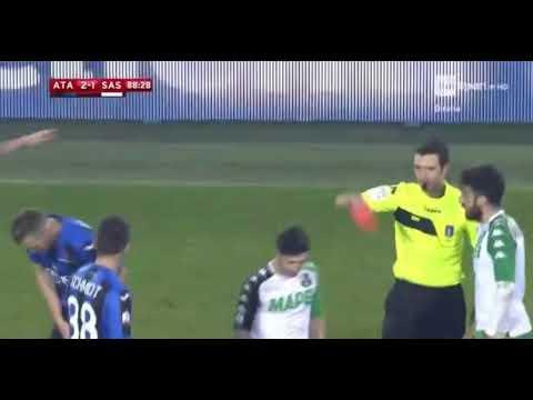 Jasmin Kurtic RED CARD HD - Atalanta 2-1 Sassuolo 20.12.2017