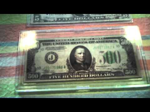 Five Hundred Dollar Note. 500 dollar federal reserve note. 1935A