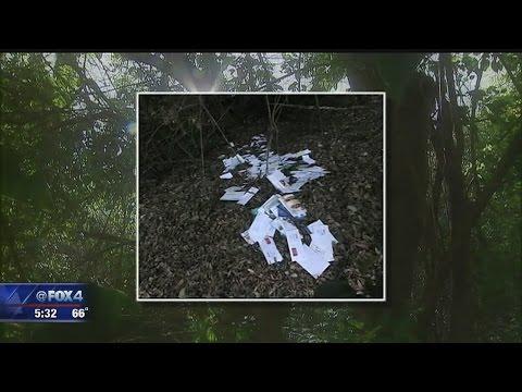 Mail dumped near Oak Cliff creek