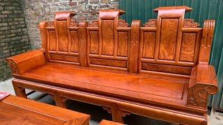 Âu Á gỗ hương tay hộp đặc cột liền trương liền siêu dày chắc chắn vân tuyển đẹp 52triệu 0944490000