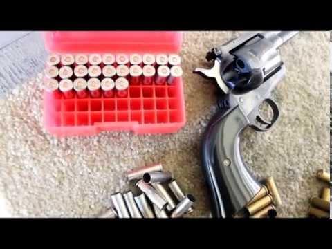 Ruger Blackhawk 357 Shooting the 125 Grain JHP Magnum Reloads
