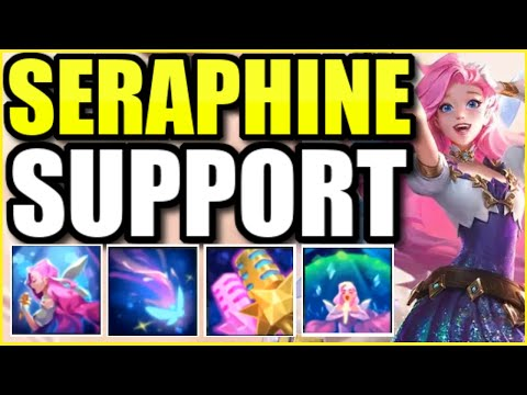 "(WORLDS FIRST!) SERAPHINE SUPPORT FULL GAMEPLAY! | FULL MATCH OF THE *NEW* CHAMPION ""SERAPHINE"""