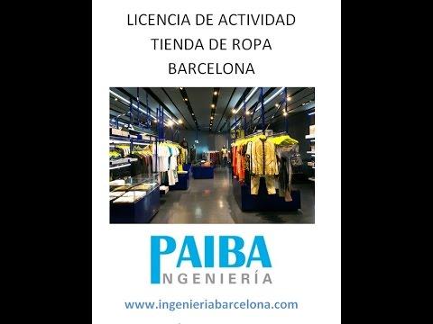licencia de actividad o apertura tienda de ropa barcelona