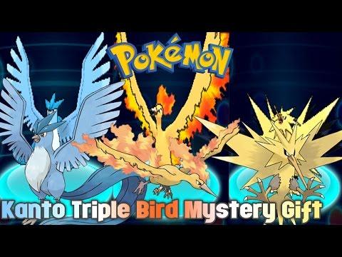 Pokémon Trainers Club Kanto Triple Bird Mystery Gift