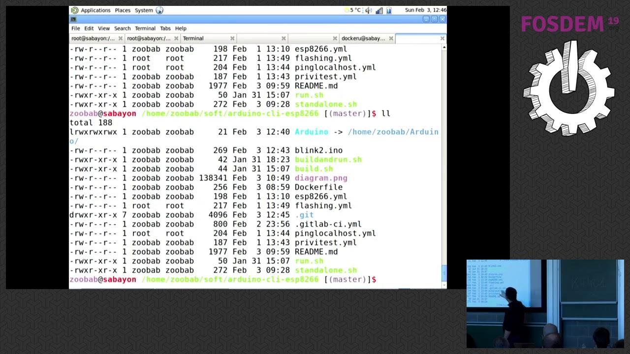 Fosdem 2019: CI/CD for embedded with ESP8266, Arduino-cli, Gitlab-ci